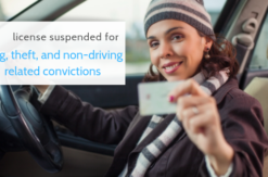 driver license suspended drug charge