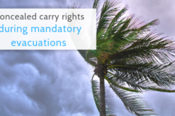 concealed carry rights in florida during mandatory evacuation